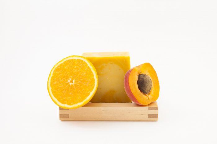 savon orange et abricot